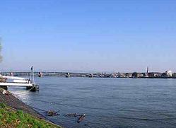 Rhine river, Mainz
