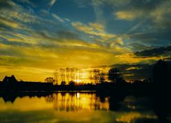 Peene river sunset
