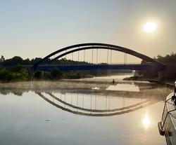 Oder-Havel-Canal sunrise
