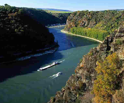 Romantic middle Rhine, Droneview