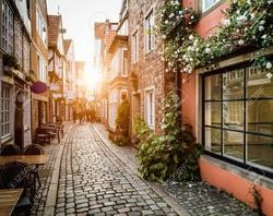 Bremen Schnoorviertel sunset