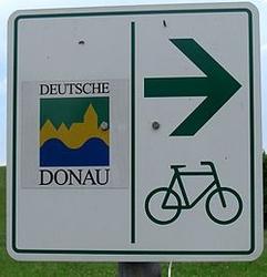 German Danube bike route