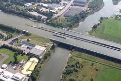 Minden aqueduct drone view