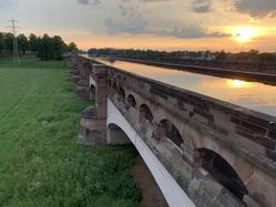 Minden aqueduct sunset