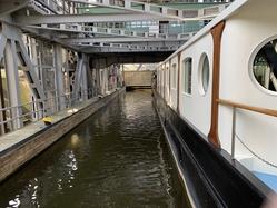 Niederfinow shiplift, Merlijn inside