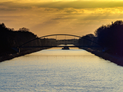 Midland canal sunset