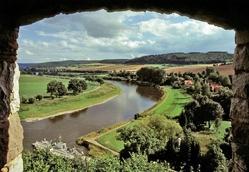 Weser hills landscape