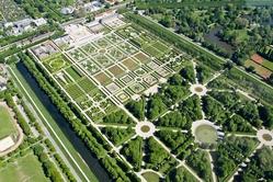 Herrenhausen gardens drone view
