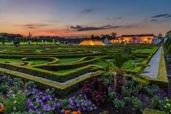 Herrenhausen gardens sunset